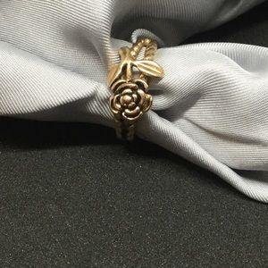 18k plates gold rose ring size 5